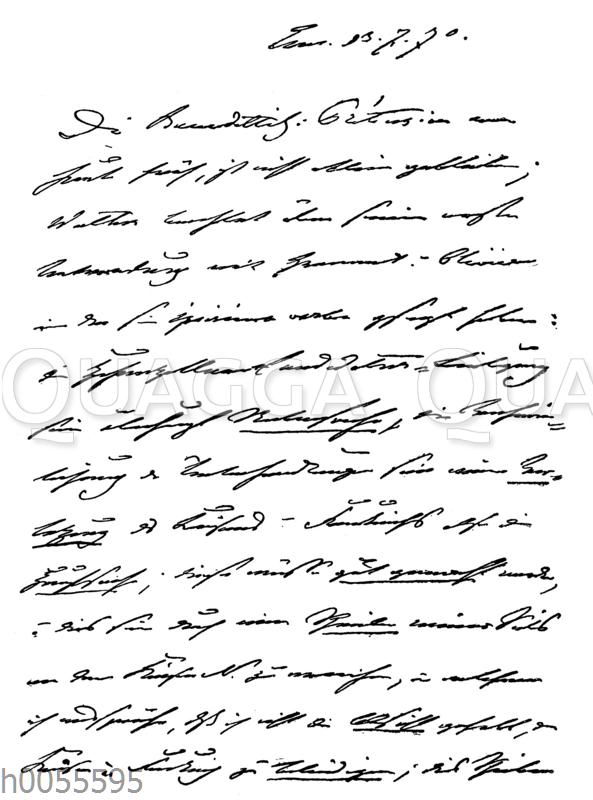 Brief König Wilhelms I