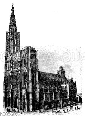 Straßburger Münster: Südwestansicht
