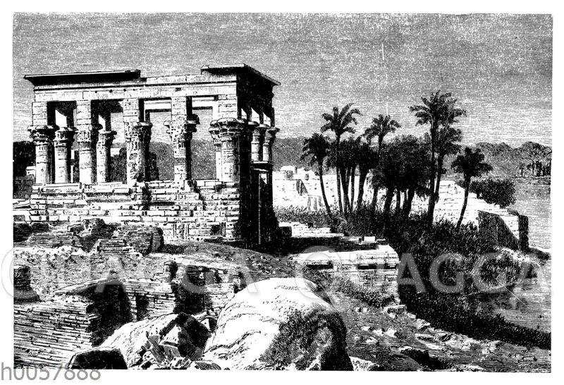 Ruinen des westlichen Tempels auf der Insel Philae