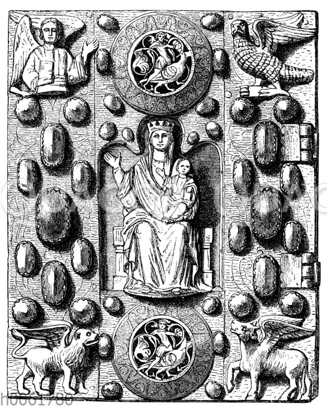Metallbuchdeckel eines Lektionars. XIII Jahrh. Nikolaikirche zu Höxter