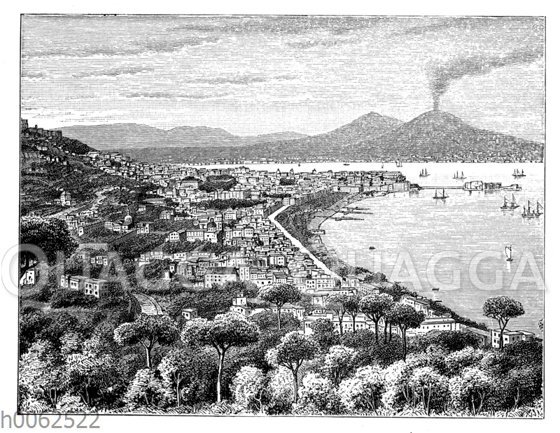 Neapel mit dem Vesuv