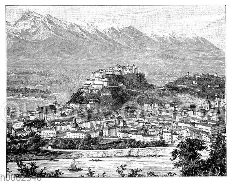 Salzburg mit dem Untersberg