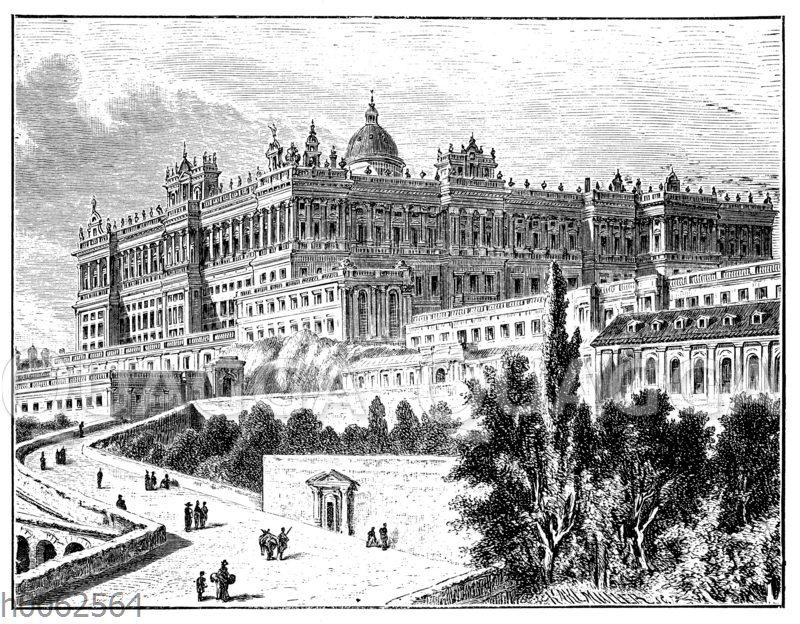 Der Königspalast in Madrid