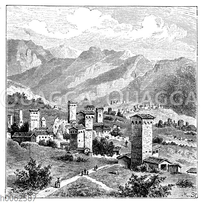 Ortschaft der Suanen