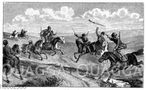 Reiterstücke und Kampfspiegel der Kaukasier