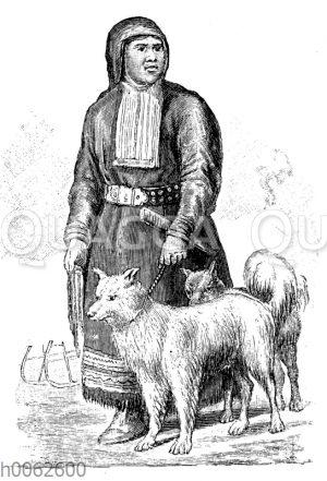 Kamtschadale mit Hund
