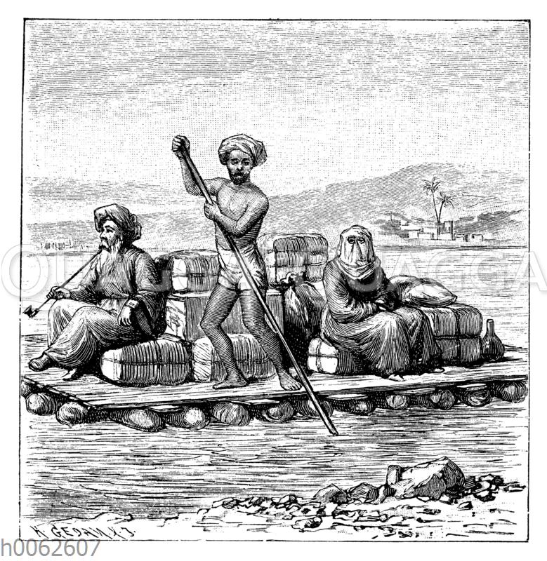Schlauchfloß auf dem Tigris