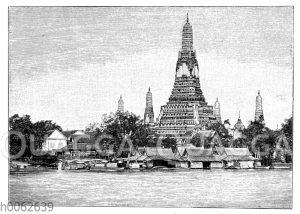 Ansicht von Bangkok am Menam