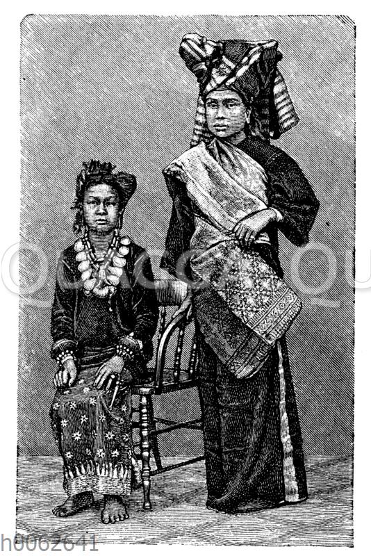 Malaiische Frauen von Sumatra