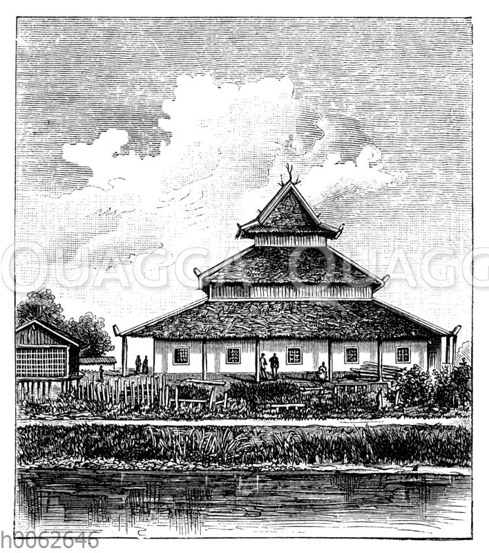 Moschee auf Borneo
