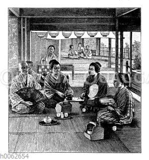 Innere Räume eines japanischen Teehauses
