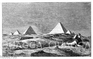 Pyramiden und die große Sphinx