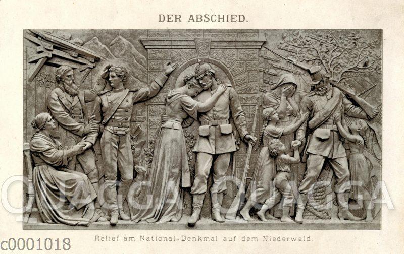 Der Abschied. Relief am National-Denkmal auf dem Niederwald