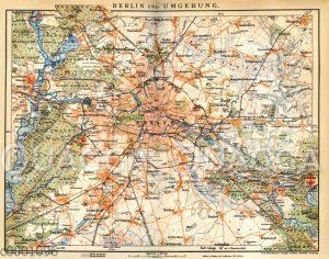 Plan der Umgebung von Berlin um 1898