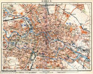 Stadtplan von Berlin um 1898