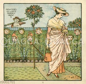 Gärtnerin mit Gießkanne