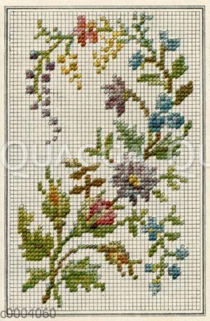 Stickmuster: Blütenzweig