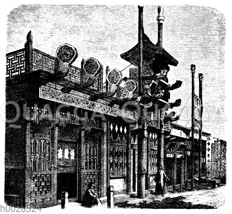 Kaufläden in Peking