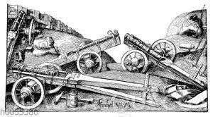 Feld-Geschütze aus der Zeit des Ferdinand Cortez