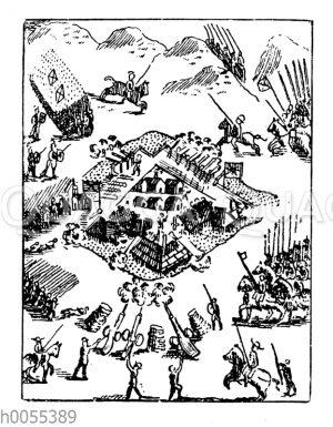 De Sotos Sturm auf die Festung Alabam