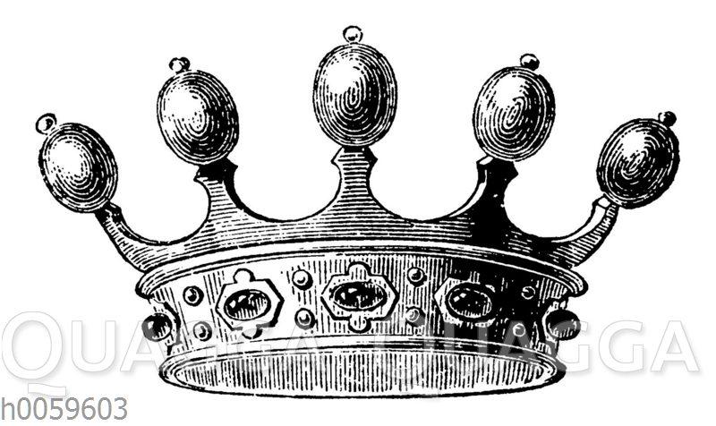 Moderne Krone der Ritter und Edelleute