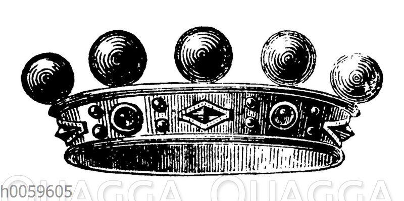Alte Krone der Ritter und Edelleute