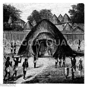 Königshalle in Uganda