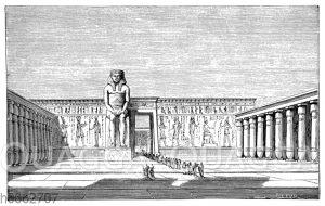 Der große Koloss des Ramesseums