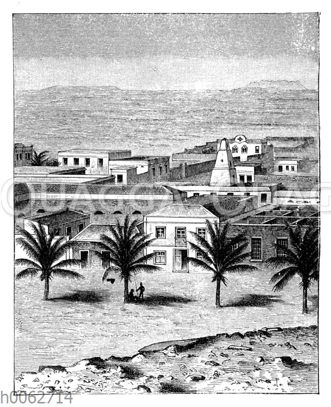 Ansicht von Mossamedes in Niederguinea
