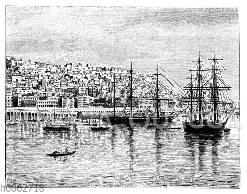 Ansicht von Algier vom Meere aus