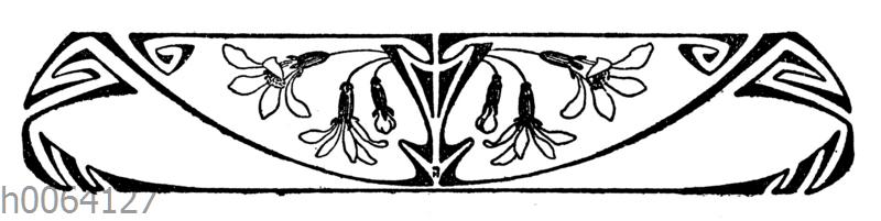 Jugendstil Ornament Quagga Illustrations