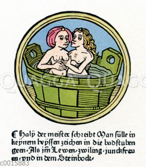 Paar im Badezuber