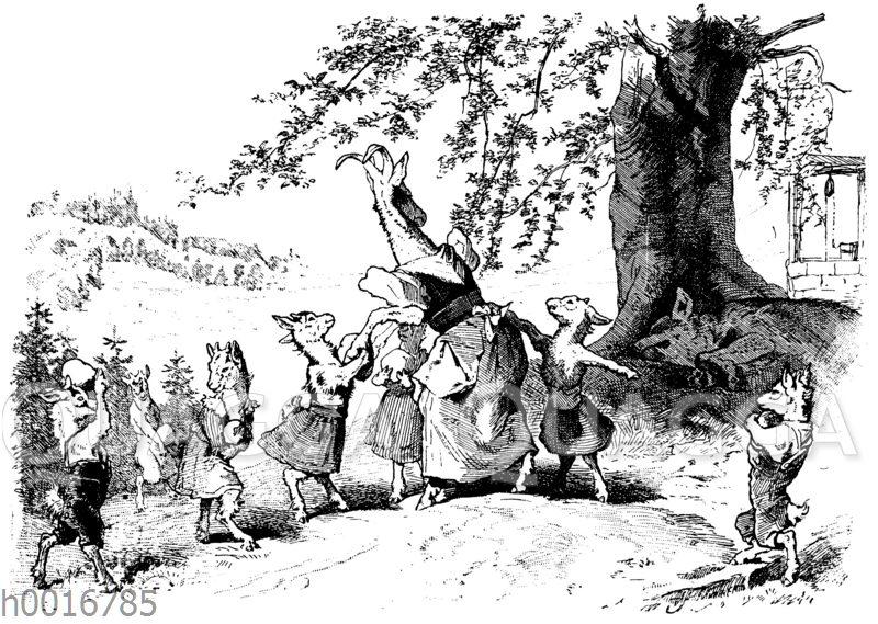 Der Wolf und die sieben jungen Geißlein