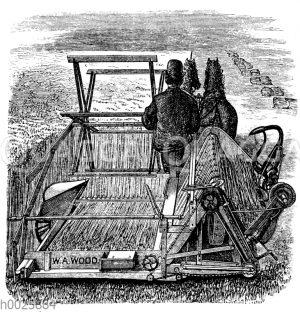 Mähmaschine mit automatischem Garbenbinder