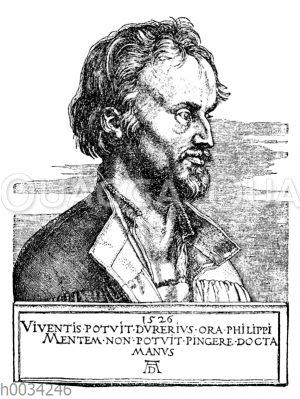 Philipp Melanchthon nach einem Kupferstich von Albrecht Dürer