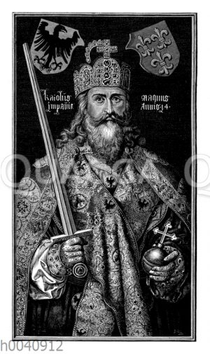 Karl der Große im Krönungsornat der deutschen Kaiser