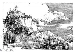 Landschaft mit Burg in einem Kupferstich von Albrecht Dürer