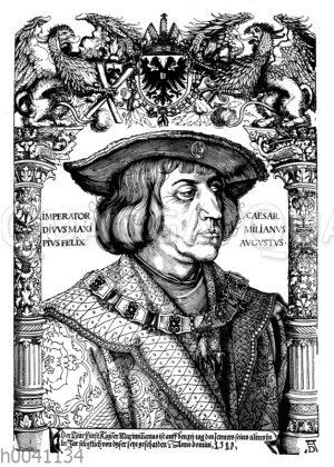 Kaiser Maximilian I. Holzschnitt von Albrecht Dürer
