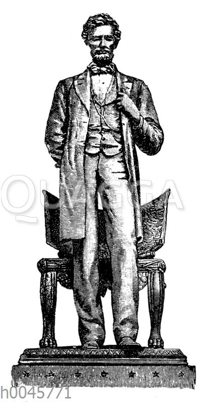 Bronzestatue Lincolns zu Chicago
