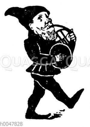 Vignette: Zwerg mit Horn