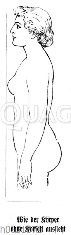 Wie der Körper ohne Korsett aussieht