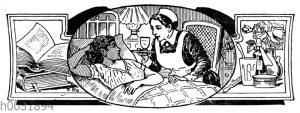 Krankenschwester am Bett einer Kranken