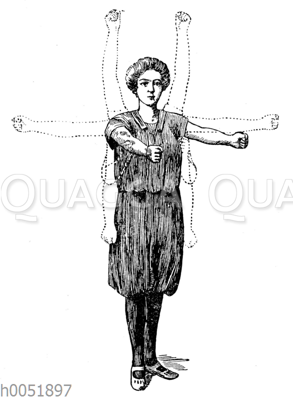 Gymnastik: Strecken der Arme