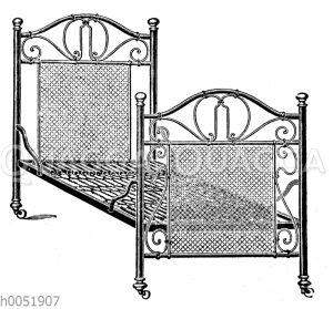 Reformbettgestell mit federnder Kettennetz-Matratze