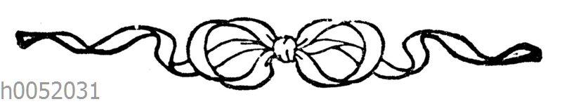 Ornament: Schleife aus Bändern