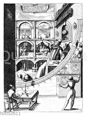 Tycho Brahe in seiner Sternwarte auf der schwedischen Insel Ven