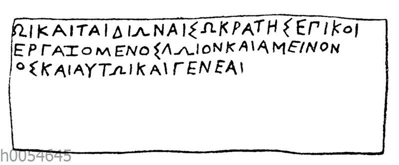 Antikes Orakelplättchen