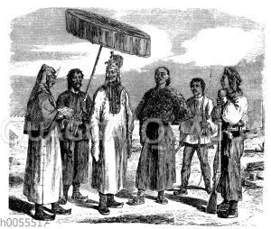 Taiping-Offiziere und Soldaten
