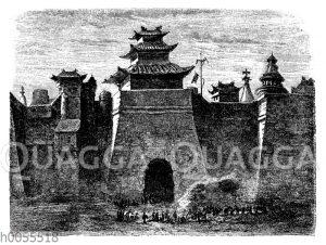 Stadtmauer und Tor von Peking