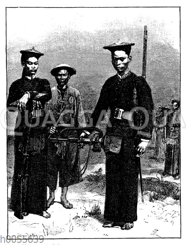 Tongkinesische und annamitische Hilfstruppen der Franzosen